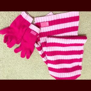 Coach Scarf and Coordinating gloves